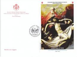 SMOM 2012 ANNO DELLA FEDE - SS. TRINITA'  - RIBERA - FDC - Malte (Ordre De)