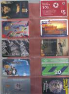 COLLECTION OF 10 PHONECARDS  /  BARGAIN /  USED - Phonecards