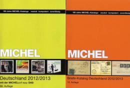 2xMICHEL Deutschland Plus Briefe Katalog Mit CD Easy 2013 Neu 133€ Bayern Baden III.Reich Danzig Saar SBZ DDR Berlin BRD - Duitsland