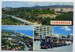 Espagne--COMARRUGA---1978--Vues Diverses (vue Générale,vue Aérienne,petit Train) ,cpm N° 37  éd Raymond - Tarragona