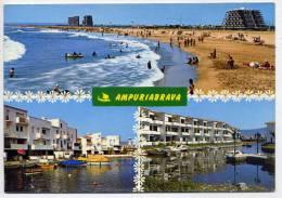 Espagne----AMPURIABRAVA -Plage Et Zones Résidentielles, Cpm éd Catalan Ibarz ---timbre Au Verso- - Gerona