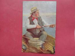 Parcel Post Stamp R.P.O. Cancel  Man Fishing    Ref 740 - Postcards