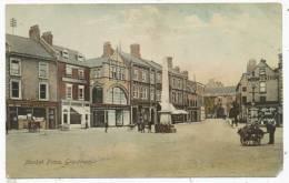 Market Place, Grantham, 1907 Postcard - Non Classificati