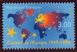 N° 3233  Année 1999, Cinquantenaire Conseil De L´europe, Faciale 0,46 € - Neufs