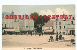 23 - GUERET - Carte Aquarellée N° 7 NG < Place Bonnyaud - Dos Scané - Guéret