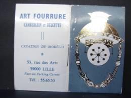 CPF.71-80. A1. Publicité Art Fourrure Camberlein Et Delgutte. Lille - Calendriers