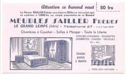 Buvard  Attention Ce Buvard Vaut 50Frs Meubles Sailler Freres  Le Grand Lemps Isere  Chambre A Coucher Salle A Manger To - Carte Assorbenti