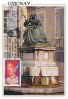 D09428 CARTE MAXIMUM CARD FLAMME 1996 FRANCE - WRITER MADAME SÉVIGNÉ CP ORIGINAL - Ecrivains