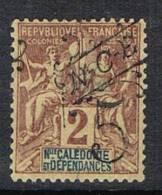 NOUVELLE-CALEDONIE N°54 N*  Variété Surcharge à Cheval - Ongetande, Proeven & Plaatfouten