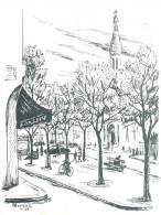 EGLISE D'AUTEUIL PARIS 16 Eme  TAILLE CPM - Drawings
