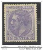 ESNE6-L2560TVC.España Spain Espagne ALFONSO  Xll.Impuesto  De Guerra.1879.(Ed NE 6**) LUJO - Variedades & Curiosidades
