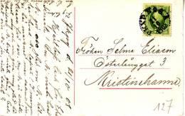 """BAHNPOST / AMBULANT / TREINPOST : PK Met  PZ (zwed) P K X  P N° 26 A / 21.10.1908"""" - Suède"""