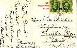 """BAHNPOST / AMBULANT / TREINPOST : ZK Met 2 PZ (zwed) P L K  257 C  / 29.1.1908"""" - Suède"""
