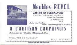 Buvard   Meubles Révol Atelier De Fabrication  A L'artisan Dauphinois  Les Abrets Isère - Carte Assorbenti