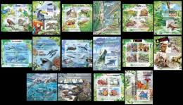 BURUNDI 2012 MNH ** - Protection Of Nature I, 8 M/S + 8 S/S. Official Issue - Burundi