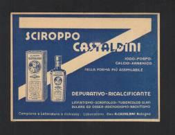 Cartolina Sciroppo Castaldini Depurativo Ricalcifiante - Commercio