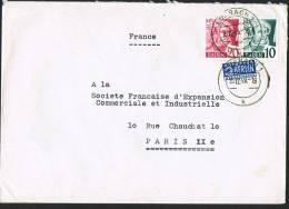 Baden  Lettre Pour La France Du 13.12.1949  Avec Timbre-impôt  Yv 33, 34 - Zone Française