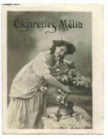 """CHROMO CIGARETTES MELIA ALGER PIN UP: """"Femme Au Bouquet De Fleurs """" - Melia"""