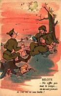 Comique Militaire 138 - Belote - Humour