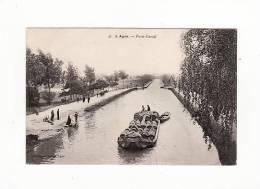 Carte 1904 AGEN / PONT CANAL (péniche ,gabarre) - Agen