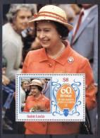 Saint Lucia / St. Lucia 1986, 60th Birthday Queen Elizabeth II **, MNH - St.Lucia (1979-...)