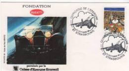 Fontation Bugatti Quinzaine De L´epargne 31/10/1987 Strasbourg - Marcofilia (sobres)