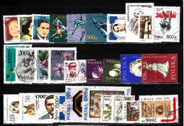Poland 1990s-2000s 87 Different Stamps Mostly Used - Timbres