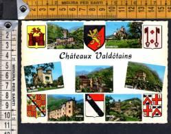 D1282 Castelli Della Valdostani: Aymaville, Fenis, Issogne, D'Ussel, Verres, Pierre /   Non Viaggiata - Otras Ciudades