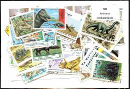 100 Animaux Phéhistoriques - Vrac (max 999 Timbres)