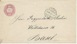 1873 Tüblibrief Von Aaarau Nach Basel - Enteros Postales