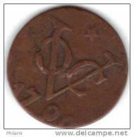 COINS PAYS BAS, INDIA UTRECHT KM 111.5  1DUIT 1790. (DP32) - Indes Néerlandaises