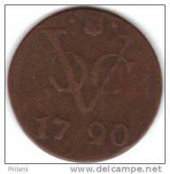 COINS PAYS BAS, INDIA UTRECHT KM 111.1  1DUIT 1790. (DP31) - Indes Néerlandaises