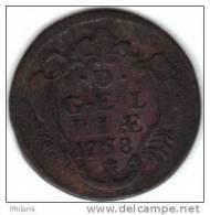 COINS PAYS BAS, GERDERLAND KM 93 1DUIT 1758 (DP35) - [ 1] …-1795 : Période Ancienne