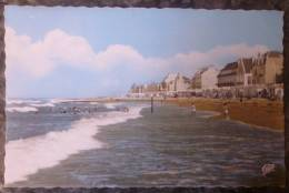 (14).ST AUBIN SUR MER.LA PLAGE A MAREE HAUTE.1966.JOLIE CARTE EN TBE. - Saint Aubin