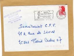 Enveloppe Brief Cover Montpellier Préfect. Paris + Flamme Grotte Des Demoiselles St Bauzille De Puto Près Ganges - France
