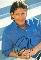 Handtekening op kaart - Frank Galan - zanger