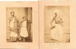 Ensemble 5 Tirages Albuminés Vintage, Disciples De VICHNOU Et CHIVA - Photos