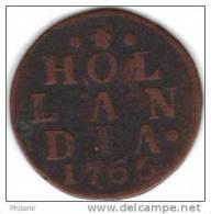 COINS PAYS BAS, HOLLAND KM 80  1DUIT 1766. (DP40) - [ 1] …-1795 : Période Ancienne