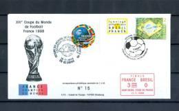 FRANCE CHAMPION DU MONDE  ZIDANE 1998 FOOTBALL TIRAGE LIMITEE 1 à 40 N° 015  RARRE - Errors & Oddities