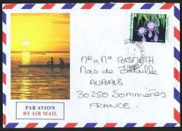 1995  Lettre Avion Pour La France   Orchidée Belle De Nuit Yv 463 - Polynésie Française