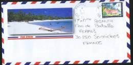 1996  Lettre Avion Pour La France   Année Du Cochon Yv 479A Variété «Sans Nom De L'imprimeur» - Polynésie Française