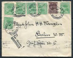 1937 Belgrade Serbia Airmail Cover To Berlin Germany - Serbia