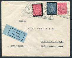 1935 Belgrade Serbia Airmail Cover To Leipzig Germany - Serbia