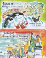 Hong-Kong 2 Cartes Prepaid Panoromic View 100$ Et Wonders Of Ocean 50$ - Hong Kong