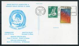1983 USA Germany NASA Space Shuttle STS 9 Launch Postcard - Covers & Documents