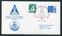 1977 USA Germany NASA ESA Space Shuttle Cover - Covers & Documents