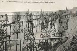 ETATS-UNIS - U S A - CALIFORNIE - CPA - OIL WELLS AT SUMMERLAND, NEAR SANTA BARBARA - Santa Barbara