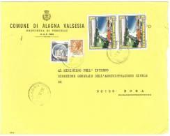 ALAGNA VALSESIA  13021  VERCELLI   ANNO 1981 -  LS   FTO 18X24 -STORIA POSTALE DEI COMUNI D´ITALIA - POSTAL HISTORY - Affrancature Meccaniche Rosse (EMA)