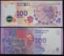 ARGENTINA. ARGENTINE. New Commemorative 100 Pesos 2012 EVA PERON. ** UNC ** Crisp New - Argentine