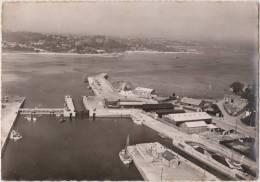 PAIMPOL ( C.- Du - N. )  Vue  Aérienne  -  Le  Port  Et  Vue  Vers  Pors - Even -  ( CPSM  Noir Et Blanc - 10 X 15 ). - Paimpol